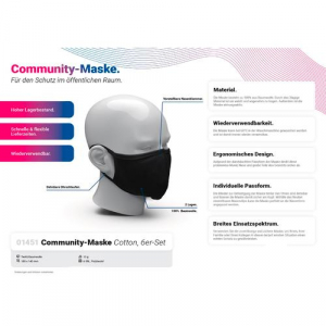Community-Maske Cotton