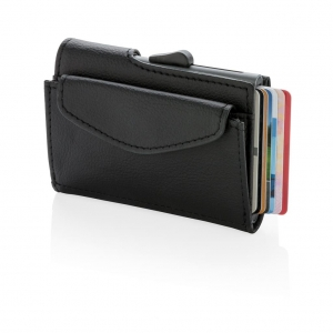 C-Secure RIFD Kartenhalter mit Münzfach
